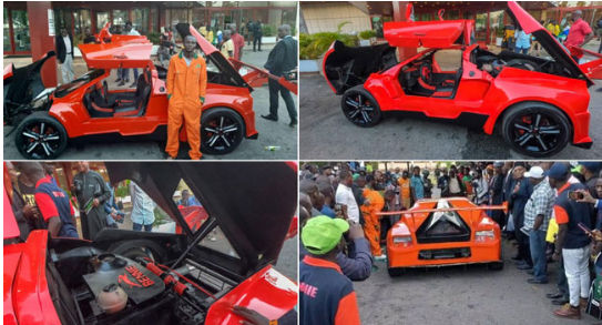 Photo of Nigerian Man designs, builds and unveils Nigerian First Carbon Fibre Car in Jos