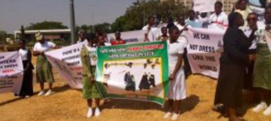 Photo of Group launch protest to allow NYSC Ladies wear Skirt