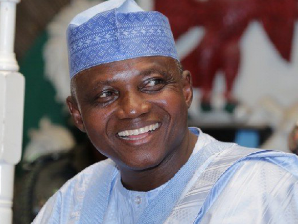 "Photo of ""Some Miscreants were paid to Boo the President in Borno"" – Garba Shehu"