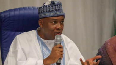 Photo of Saraki reveals conversation he had with Leah Sharibu's Father.