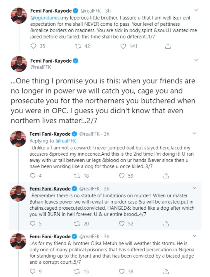 FFK blasts Ogundamisi for mockery over Metuh's conviction. 9