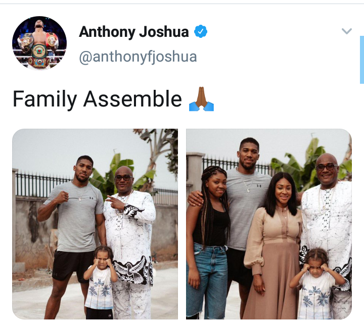 Anthony Joshua shares lovely Photos of him and his Family 4