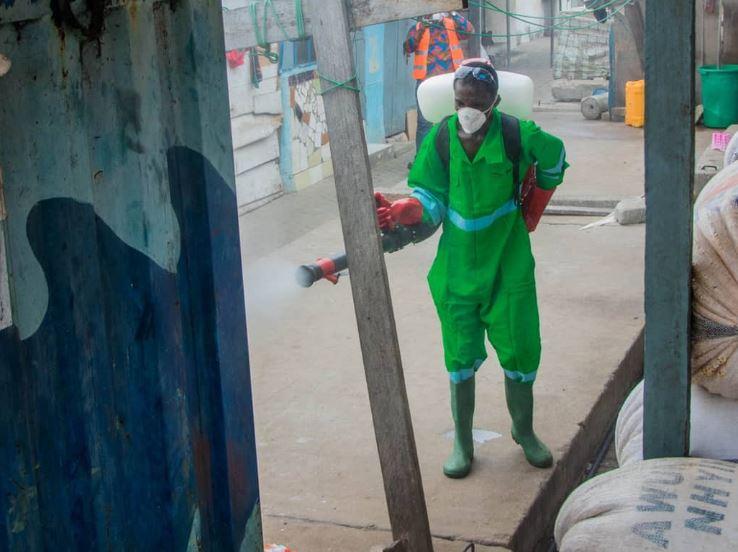 Ghanaian Authorities fumigate streets, markets as they battle Coronavirus pandemic (Photos) 8