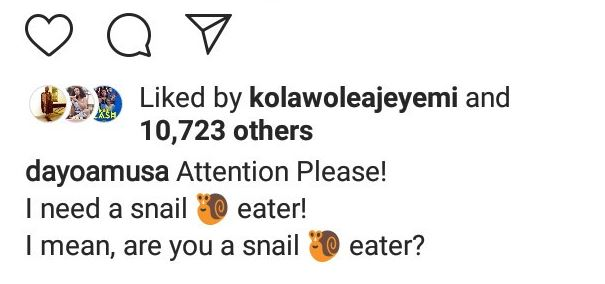 """""""My snail is sweeter than yours. I need a snail eater"""" Dayo Amusa 6"""