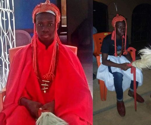 15-year-old Senior Secondary School student appointed king in Ondo State after the death of his father 3
