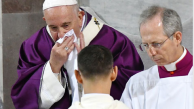 Photo of Pope Francis Tests negative for Coronavirus after suffering from Cold