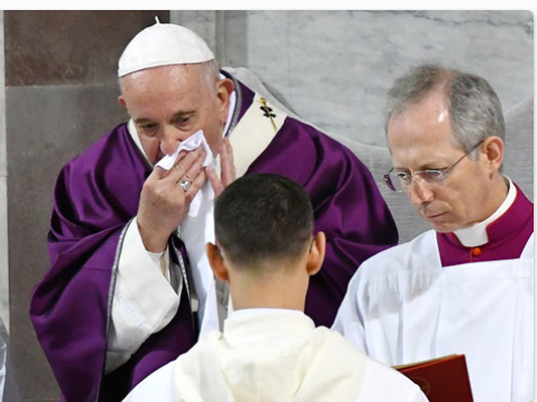Pope Francis Tests negative for Coronavirus after suffering from Cold 1