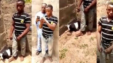 Photo of Man caught having Sex with Goat in uncompleted building.