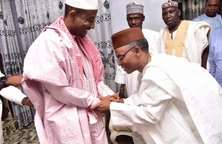 Breaking:El-Rufai meets dethroned Emir Sanusi in Nasarawa 1
