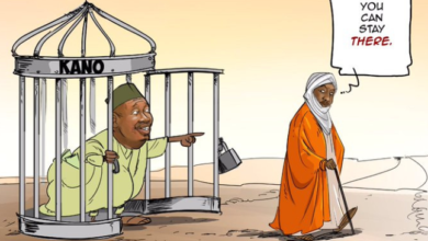 Photo of Ganduje's Aide reacts to Cartoon on Sanusi's dethronement