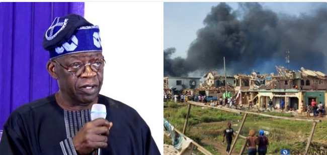 Abule Ado explosion: Those who have a Hand in it must be punished, no matter how highly placed - Tinubu 1