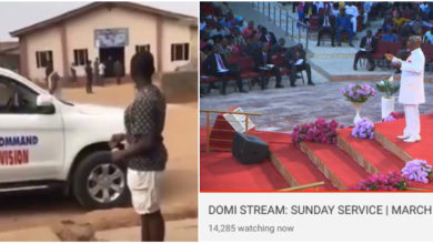 "Photo of Video: ""Go and arrest Oyedepo"" Nigerians tell Ogun govt officials after arresting a pastor for having more than 50 members in his church on Sunday"