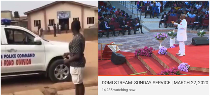 Video: ''Go and arrest Oyedepo'' Nigerians tell Ogun govt officials after arresting a pastor for having more than 50 members in his church on Sunday 3