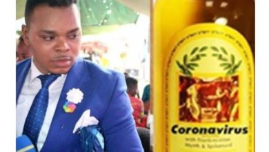 Photo of Bishop Obinim sells coronavirus anointing oil to his members for ₦13,000