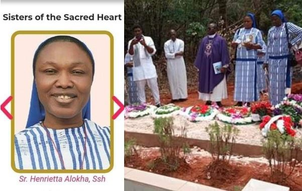 Photos from the burial ceremony of Reverend Sister Henrietta Alokha who died rescuing students in Abule Ado explosion 5