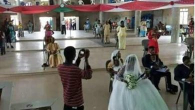 Photo of See how a couple and their guests observed social distancing at their wedding in Benue