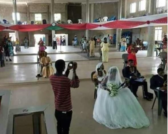 See how a couple and their guests observed social distancing at their wedding in Benue 1