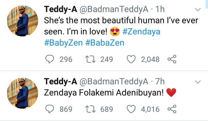 BBNaija Housemates, Teddy A and Bambam welcome first Child 4