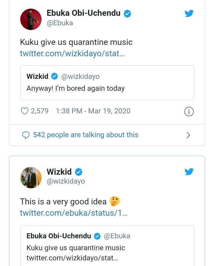 Give us quarantine Music - Ebuka urges Wizkid 4
