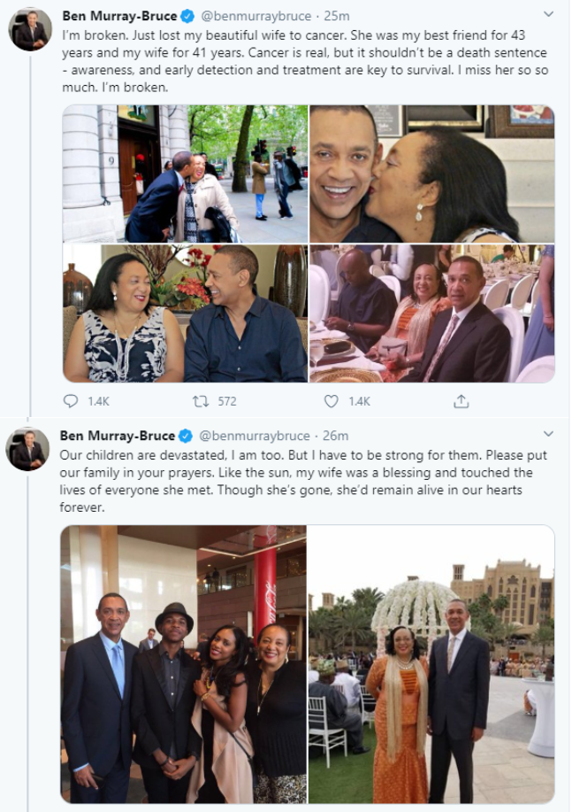 Ben Murray Bruce Loses Wife to Cancer 6