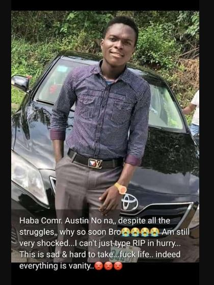 Former DELSU SUG President drowns in a River in Delta State 6