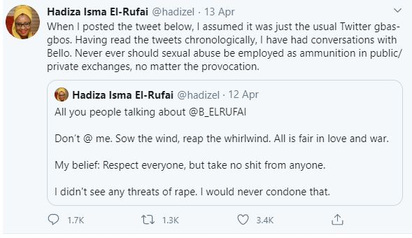 Deputy Editor of Brittle Paper fired for criticizing El'Rufai's wife's reaction after her son threatened a Twitter user with Rape 24