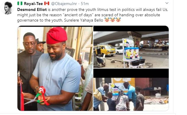 COVID 19: Nigerians Call a Desmond Elliot a Scam and Disappointment to youths over his 'plastic makeshift cleansing' project 23