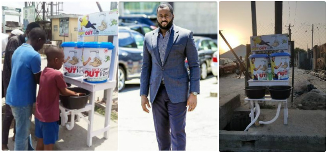 COVID 19: Nigerians Call a Desmond Elliot a Scam and Disappointment to youths over his 'plastic makeshift cleansing' project 19