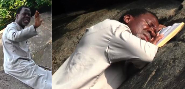 ''He is self-isolating'' Twitter users react to photos of Prophet TB Joshua praying on a mountain against COVID-19 43