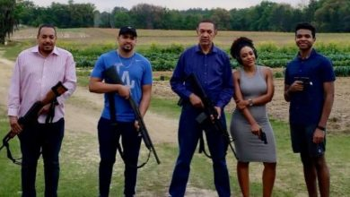 Photo of Ben Murray-Bruce and his kids pose with guns (photos)