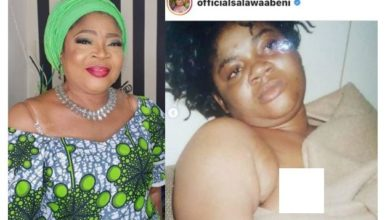 Photo of Veteran Singer Salawa Abeni raises alarm after being blackmailed with old 'Nip slip photos'. She then leaks it herself (Photos)