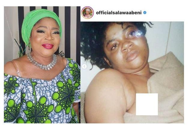 Veteran Singer Salawa Abeni raises alarm after being blackmailed with old 'Nip slip photos'. She then leaks it herself (Photos) 9