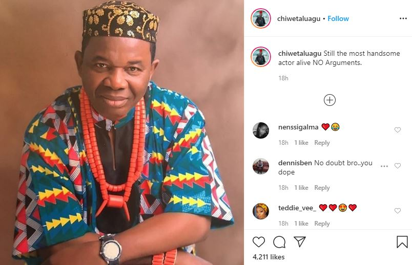 'Still the most Handsome Actor alive, NO arguments'- Chiwetalu Agu says as he shares dapper new photo 4