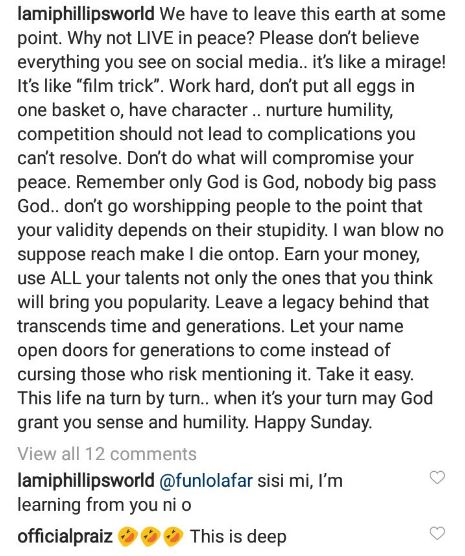 """""""Some people are broke but will borrow & spend millions on perception"""" -Lami Phillips speaks on fake life 4"""