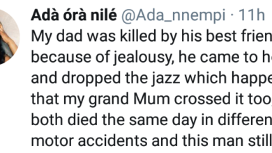Photo of Nigerian Lady shares story of how Jealousy made her Father's Friend kill her Father and Grandmother