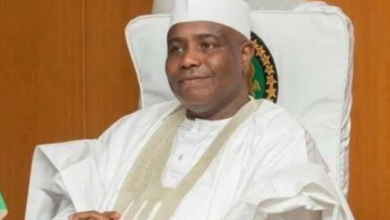 Photo of Governor of Sokoto State, Aminu Tambuwal loses Father