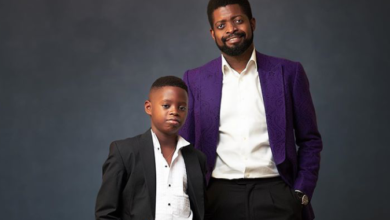 Photo of Comedian, Basket mouth celebrates Son as he becomes a year older