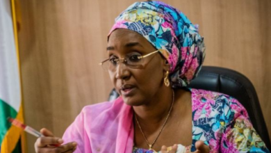 Photo of My Ministry is not linked to it — Sadiya Umar Farouq makes clarification on N2.67bn school feeding money ICPC claims to have found in a private account