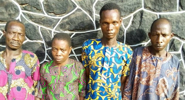 Three Friends caught with fresh human Hand in Ogun 1