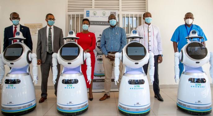 Rwanda builds five screening Robots for Covid-19 Patients 1