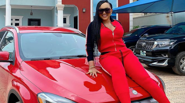 Actress, Mercy Aigbe buys new Benz 1