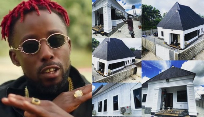 Rapper, Erigga shows off new House 1