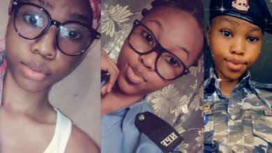 """Photo of """"Please Arrest me"""" Nigerian men beg as baby-faced officer nicknamed 'Baby Cop' joins Twitter (photos)"""