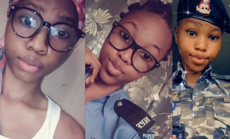 """""""Please Arrest me"""" Nigerian men beg as baby-faced officer nicknamed 'Baby Cop' joins Twitter (photos) 1"""