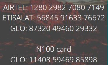 Photo of 9p.m Recharge card Giveaway