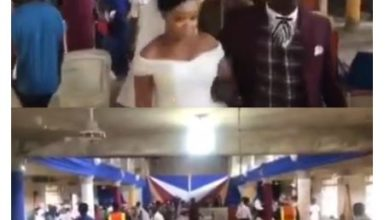 Photo of Watch Couple and their guests take off as COVID-19 task force show up at their wedding in Cross River (video)