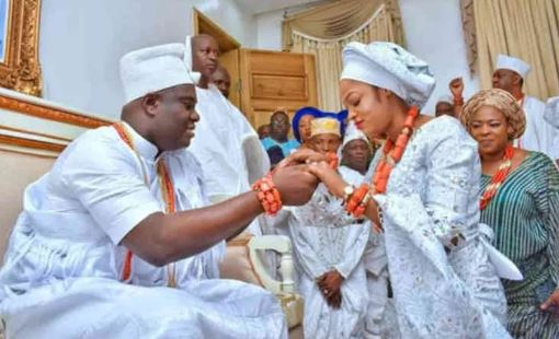Ooni of Ife's wife, Olori Prophetess Naomi reacts to rumors that their marriage has crashed 1