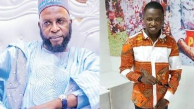Photo of Oyo Islamic Cleric, Taofeeq Akeubagold shares photos of his worker who orchestrated the kidnap of his twins