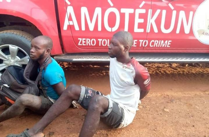 Amotekun in Osun apprehend suspected ritualists who specialize in stealing female underwear (photos) 1