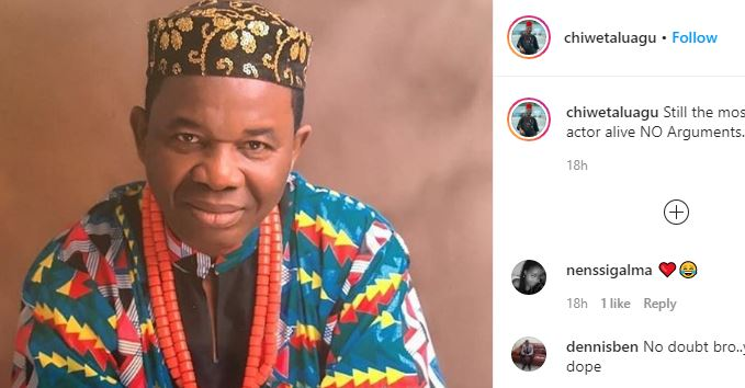 'Still the most Handsome Actor alive, NO arguments'- Chiwetalu Agu says as he shares dapper new photo 3